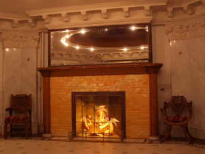 Perrenoud lobby fireplace